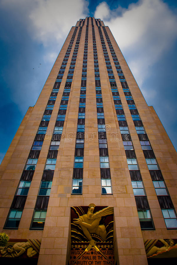 Rockefeller que construye Nueva York imagenes de archivo