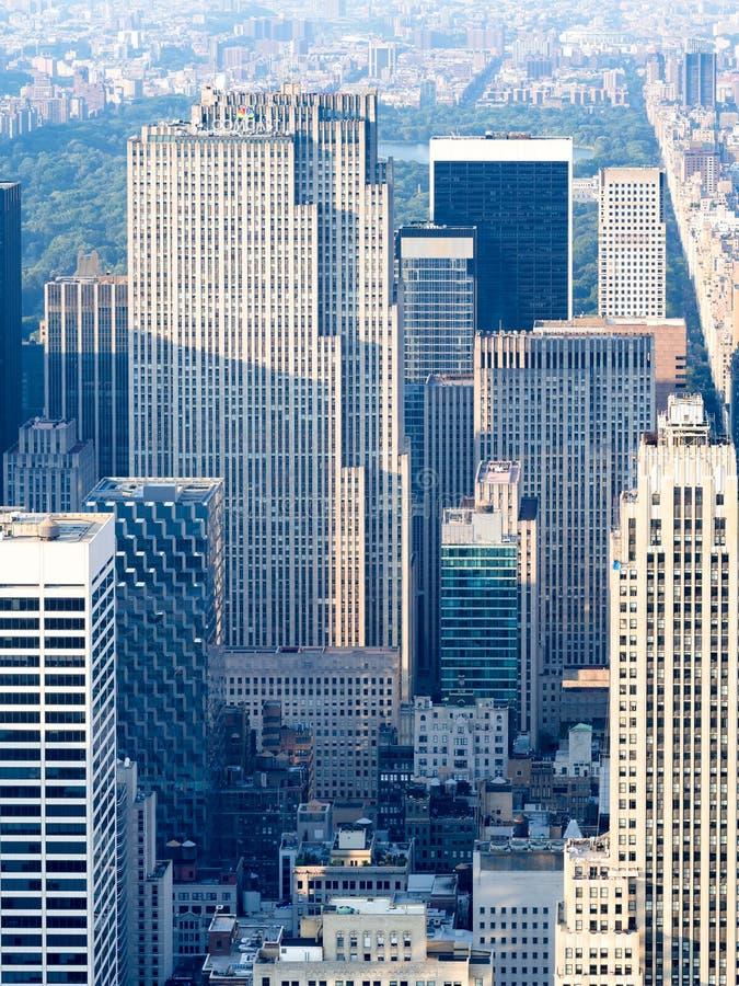 Rockefellercentrum en de Bovenkant van het Rotswaarnemingscentrum in New York royalty-vrije stock afbeelding