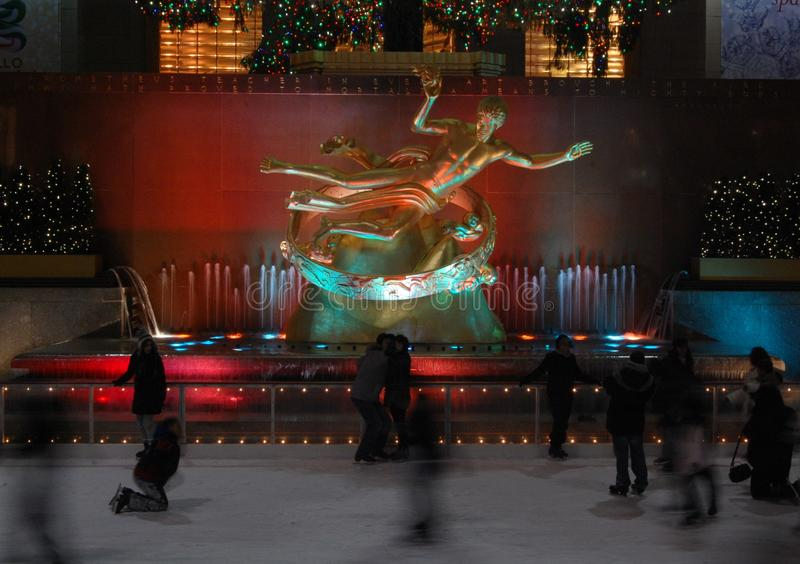 Rockefellerijs het Schaatsen stock afbeelding
