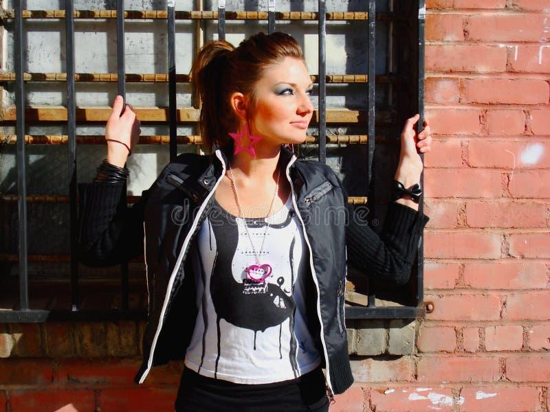 rocker κοριτσιών στοκ εικόνες με δικαίωμα ελεύθερης χρήσης