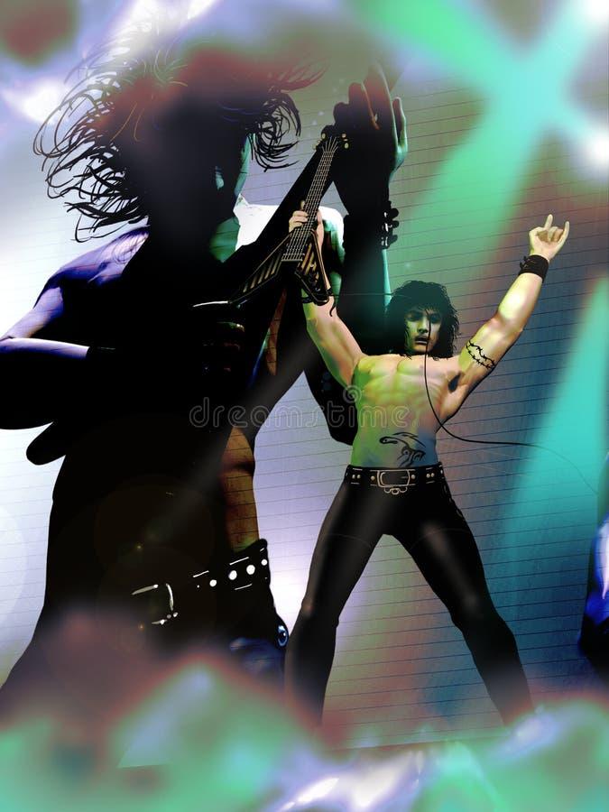 Rocker συναυλία απεικόνιση αποθεμάτων