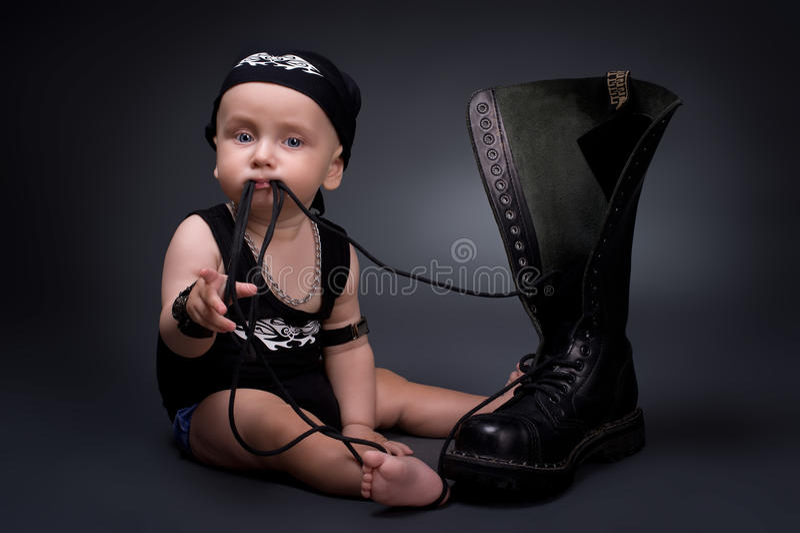 Download Rocker-baby stock photo. Image of chew, dark, person - 21361686