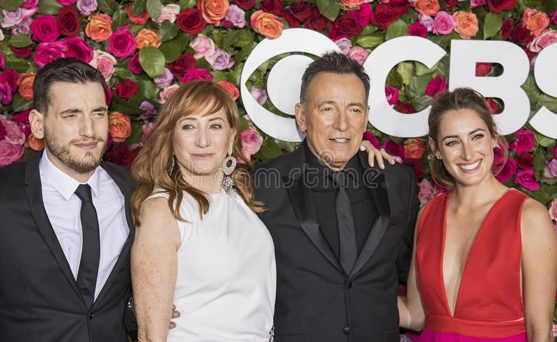 Bruce Springsteen at the 2018 Tony Awards stock image