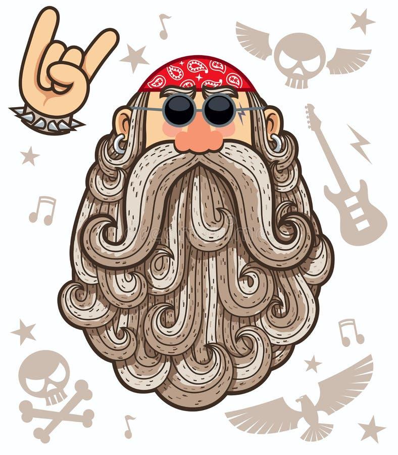 Rocker. Cartoon illustration of rocker on white background royalty free illustration