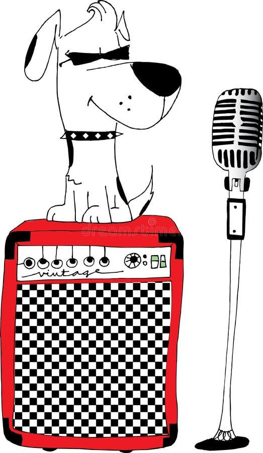 Download Rocker dog stock illustration. Image of friendship, guitar - 33440017