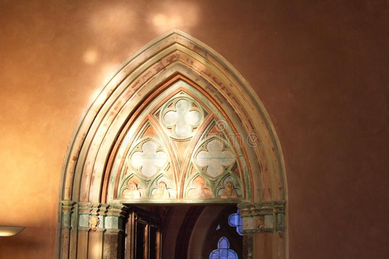 rockera befl?ckte sikten f?r borgg?rdEuropa den glass gotiska mest stora malbork poland royaltyfria foton