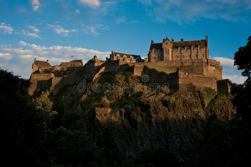 rockera edinburgh scotland fotografering för bildbyråer
