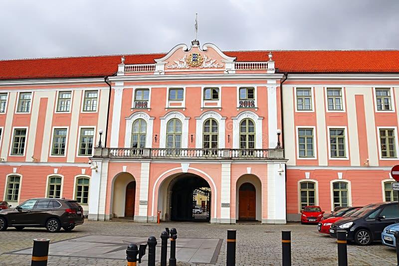 rockera tallinn för den estonia den estonian regerings- slottplatsen toompeaen fotografering för bildbyråer
