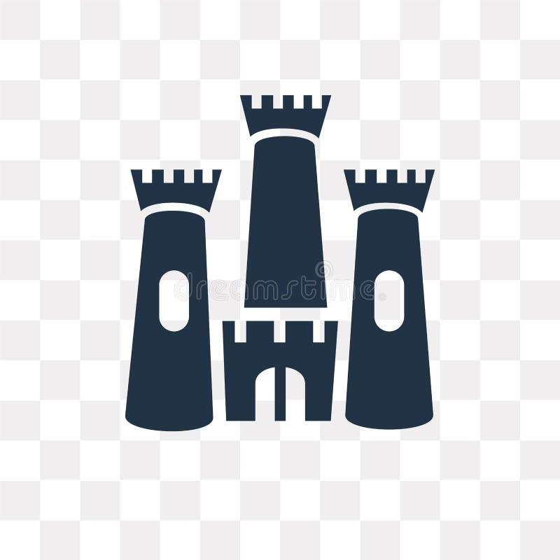 Rockera vektorsymbolen som isoleras på genomskinlig bakgrund, slott t royaltyfri illustrationer
