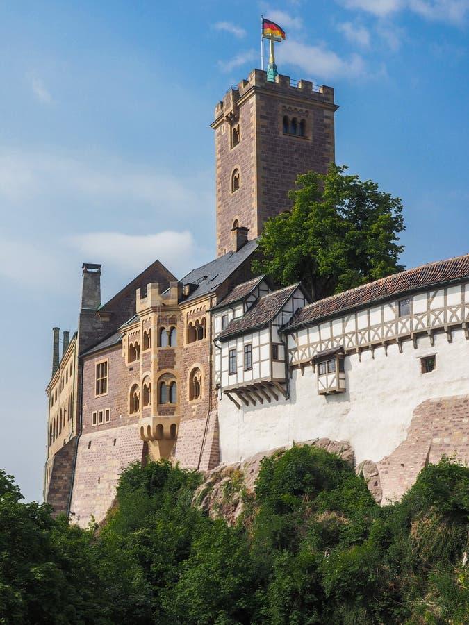 Rockera Wartburg nära staden Eisenach i Tyskland arkivbilder