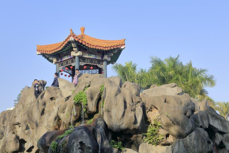Rockery и павильон тонганского основания фотографии фильма и телевидения, самана rgb стоковая фотография rf