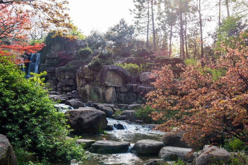Rockery и проточная вода стоковое фото