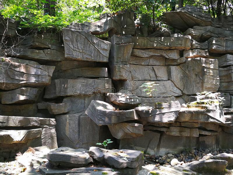 Rockery del giardino immagini stock