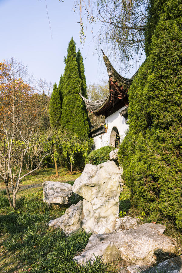 Rockery and gate royalty free stock photos