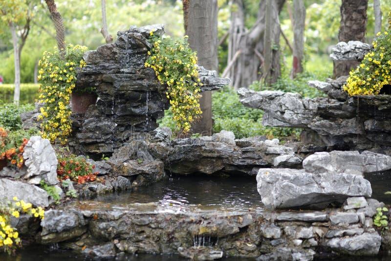 Rockery van yunboyuan park, rgb adobe stock afbeeldingen