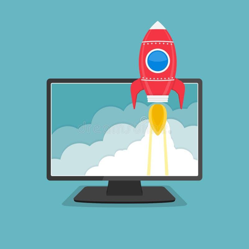 Rocket illustration stock