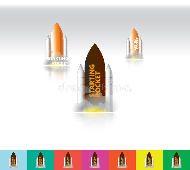 Rocket Carrier Texture & logotipo ilustração royalty free