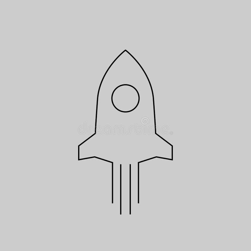 Rocket cartoon vector royalty free stock image