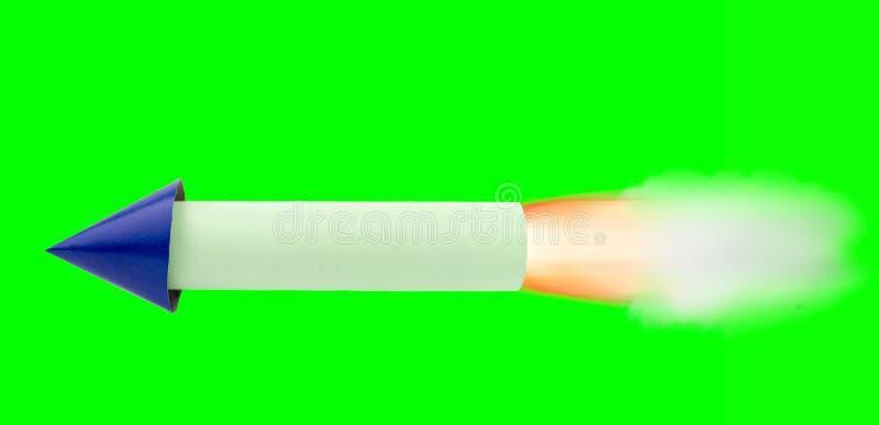 Rocket che viaggia con la chiave del cromo fotografia stock libera da diritti