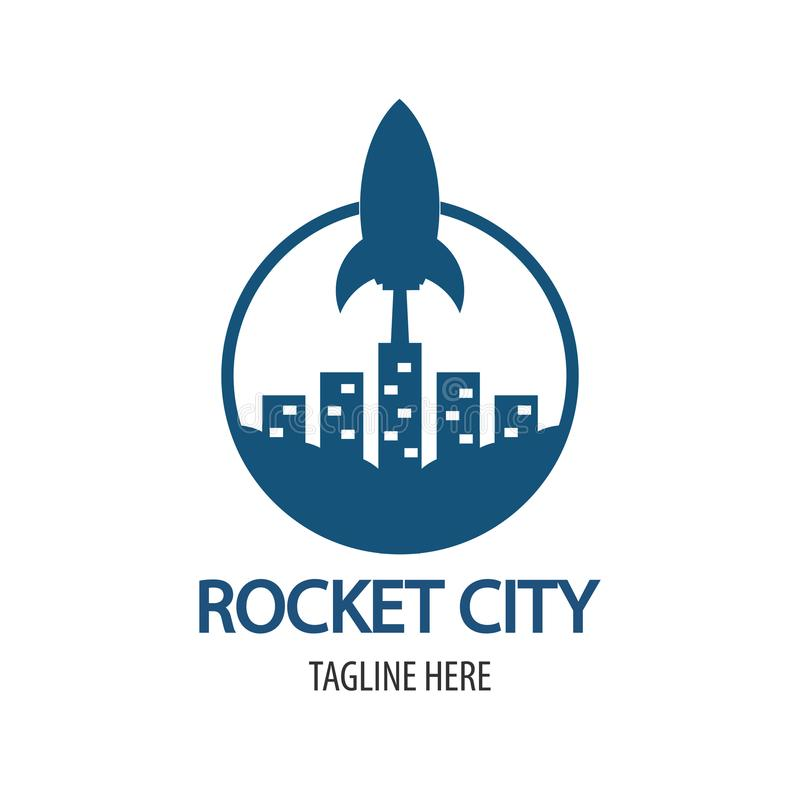Rocket City Logo immagini stock