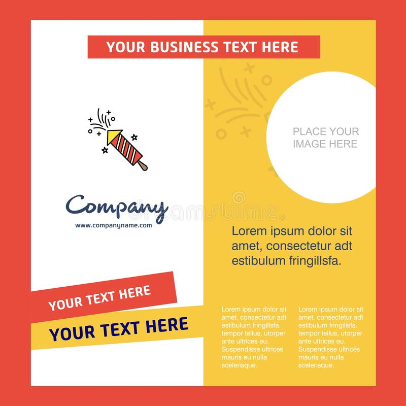 Rocket Company Brochure Template VektorBusienss mall stock illustrationer
