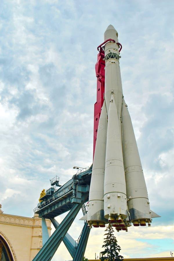 Rocket du premier astronaute le musée de l'astronautique en Russie photo libre de droits