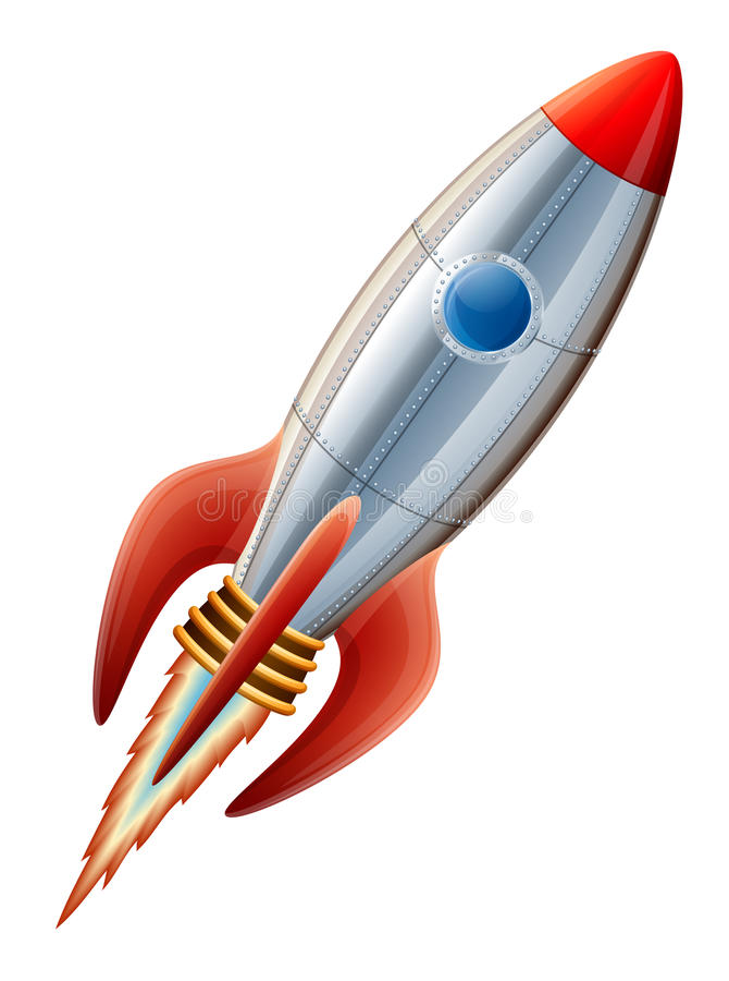 Rocket stock illustration