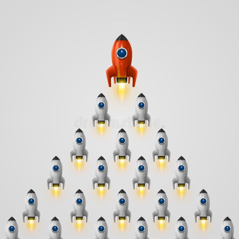 Rocket-Führerideenabdeckung lizenzfreie abbildung
