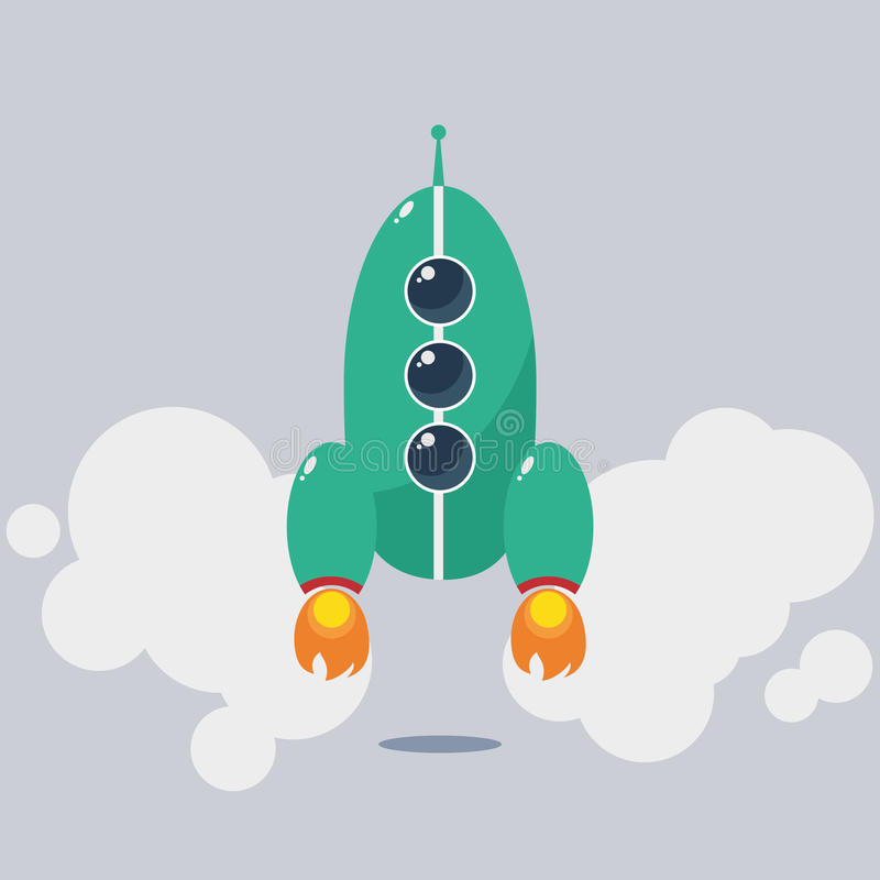 Download Rocket stock vector. Image of object, comic, image, fantasy - 37885254