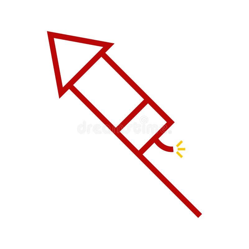 Rocket Firework Vector Illustration Graphic astratto illustrazione di stock