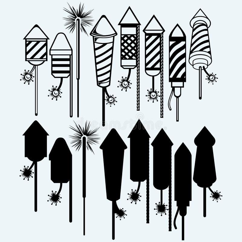 Rocket Fireworks illustrazione vettoriale