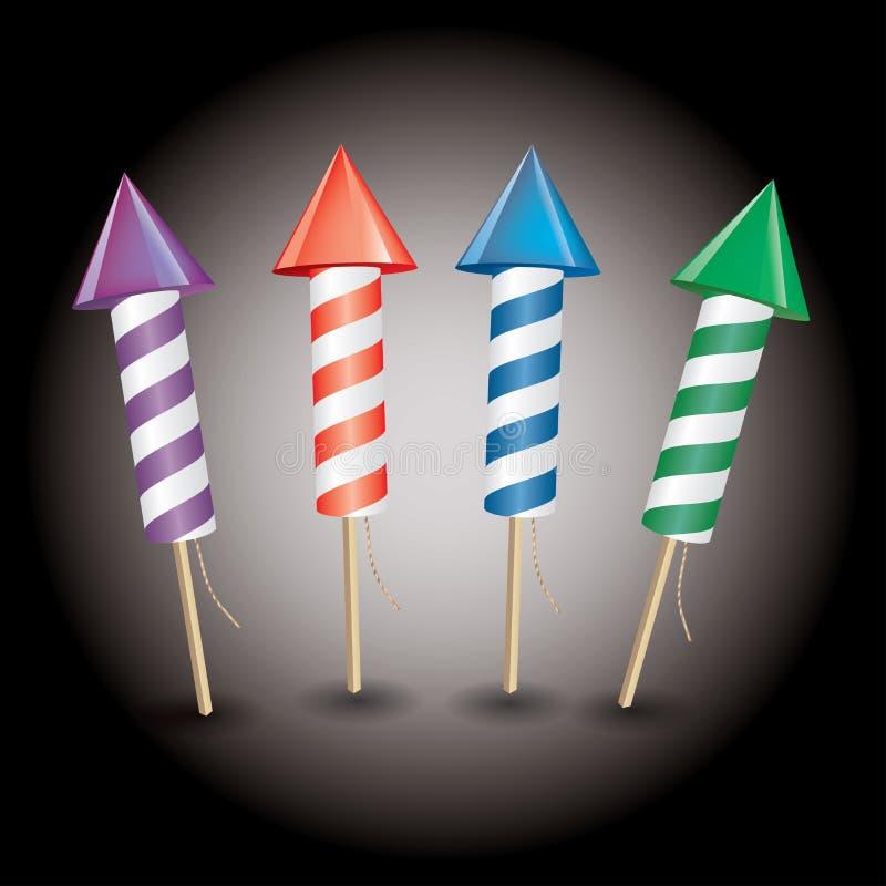 Rocket Fireworks illustrazione di stock