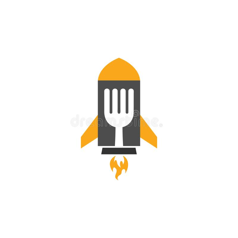 Rocket Food Logo Icon Design vektor abbildung