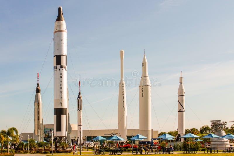 Rocket Garden em Kennedy Space Center fotografia de stock royalty free