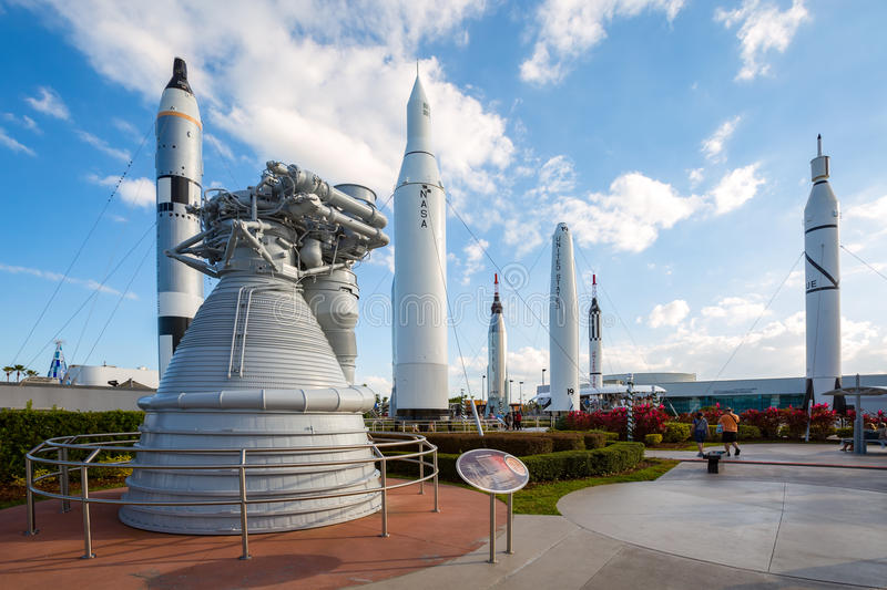 Rocket garden at Kennedy Space Center royalty free stock photography