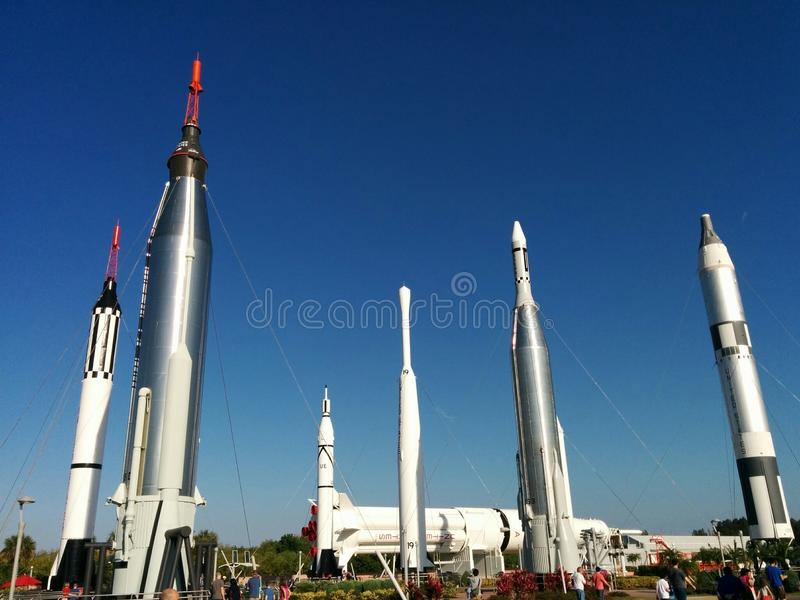 Rocket Garden at Kennedy Space Center royalty free stock photo