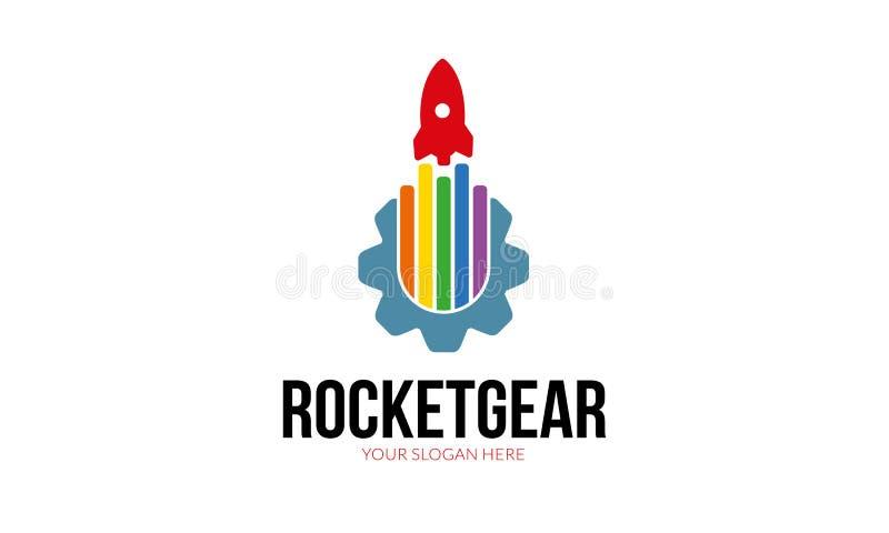 Rocket Gear Logo Template libre illustration