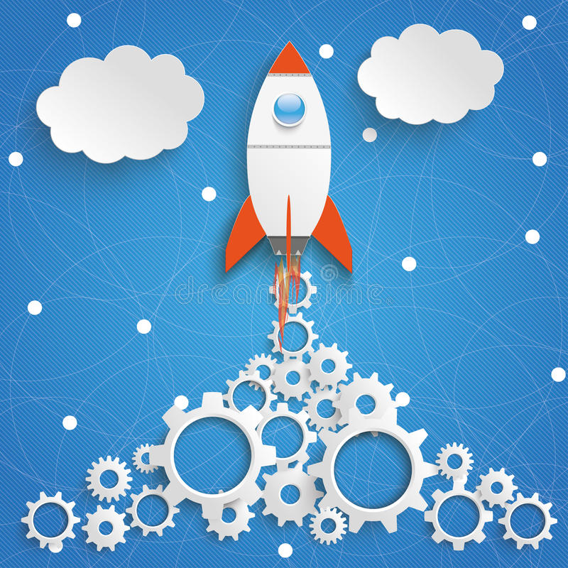 Free Rocket Gears Network Blue Sky Royalty Free Stock Photography - 76333567