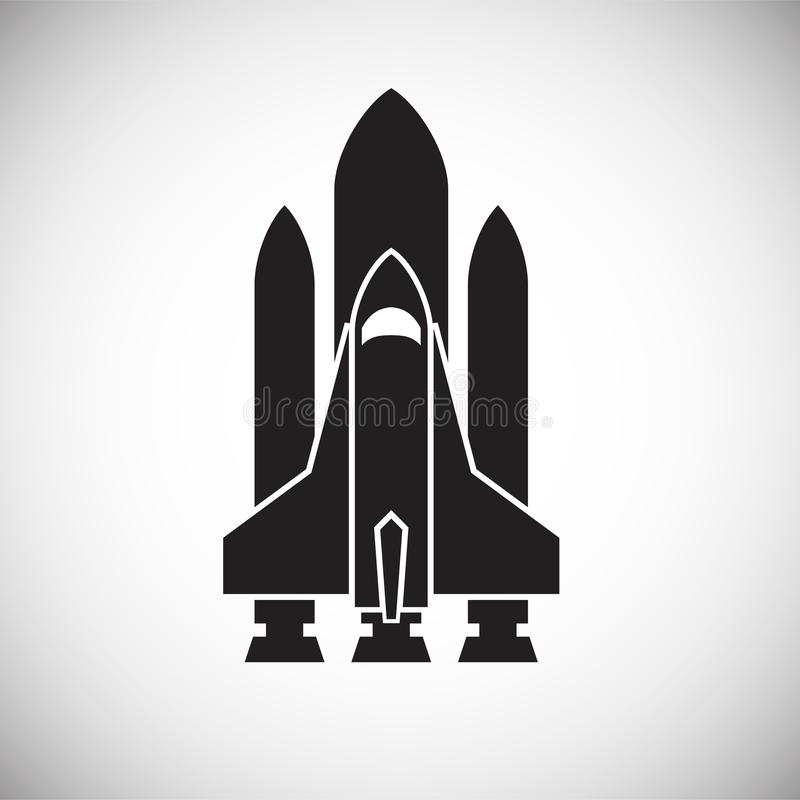 Rocket icon on background for graphic and web design. Simple vector sign. Internet concept symbol for website button or. Mobile app stock illustration