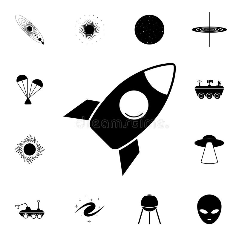 Rocket icon. Detailed set of Space icons. Premium quality graphic design sign. One of the collection icons for websites, web desig. N, mobile app on white royalty free illustration