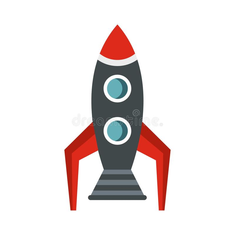 Rocket icon, flat style vector illustration