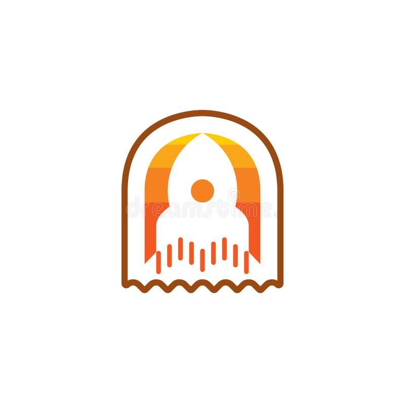 Rocket Icon a isolé sur le fond blanc Nouveau concept de projet pour le logo illustration libre de droits