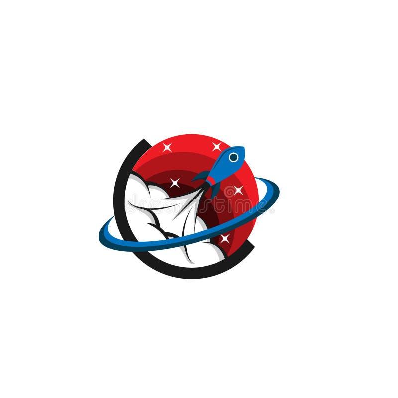 Rocket icon rocket logo rocket emblem template. Bstract symbol and button. spaceship logo icon royalty free illustration