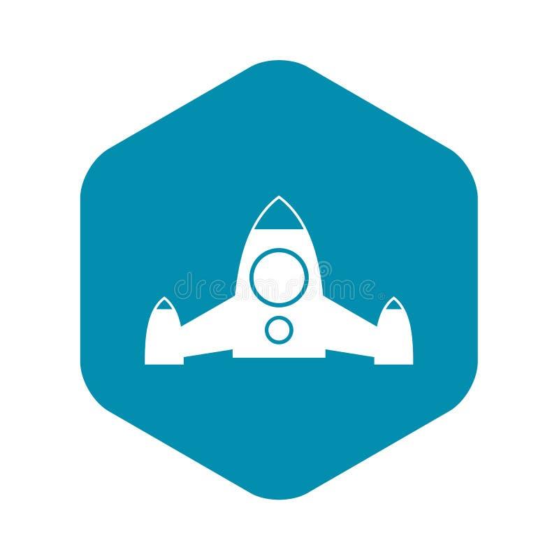 Rocket icon, simple style stock illustration