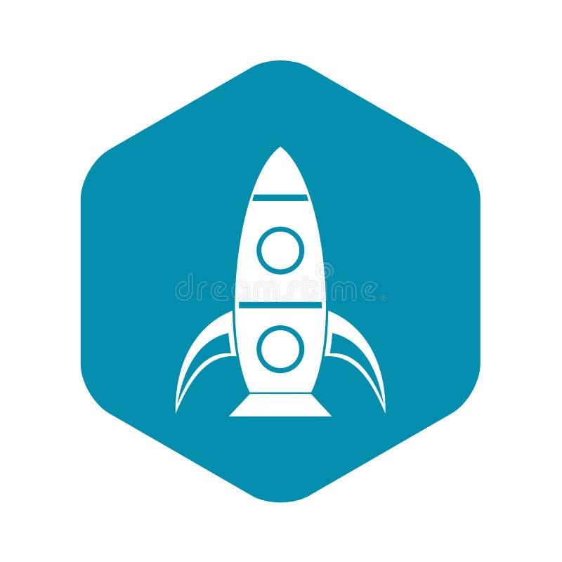 Rocket icon, simple style royalty free illustration