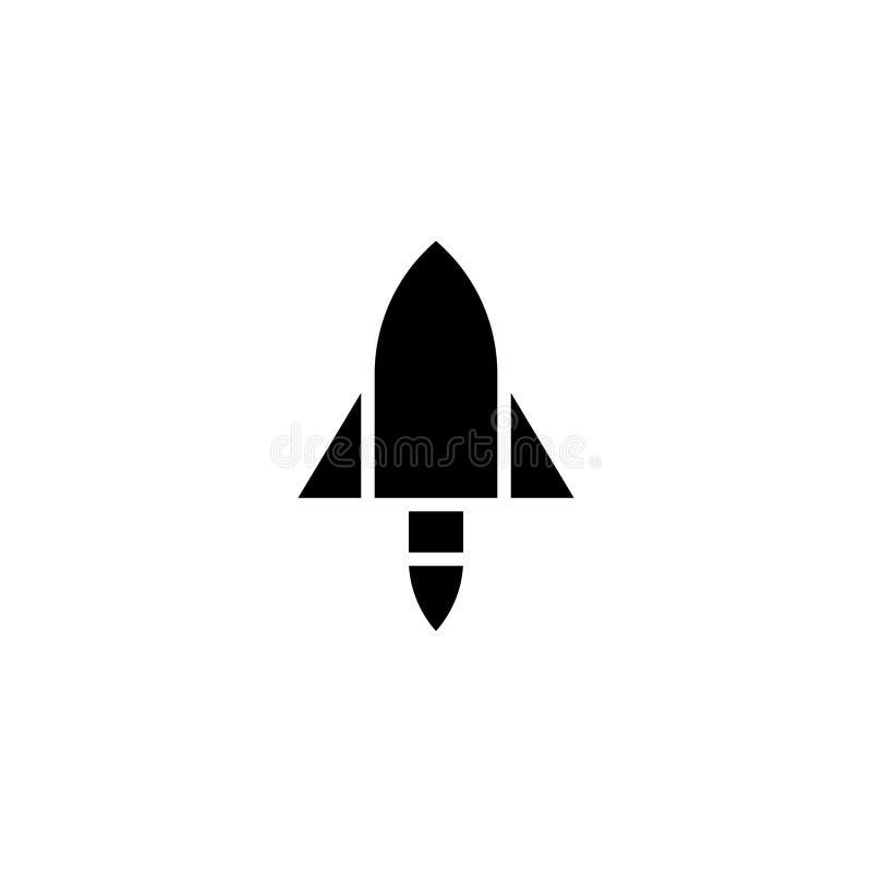 Rocket icon solid. vehicle and transportation icon stock stock illustration