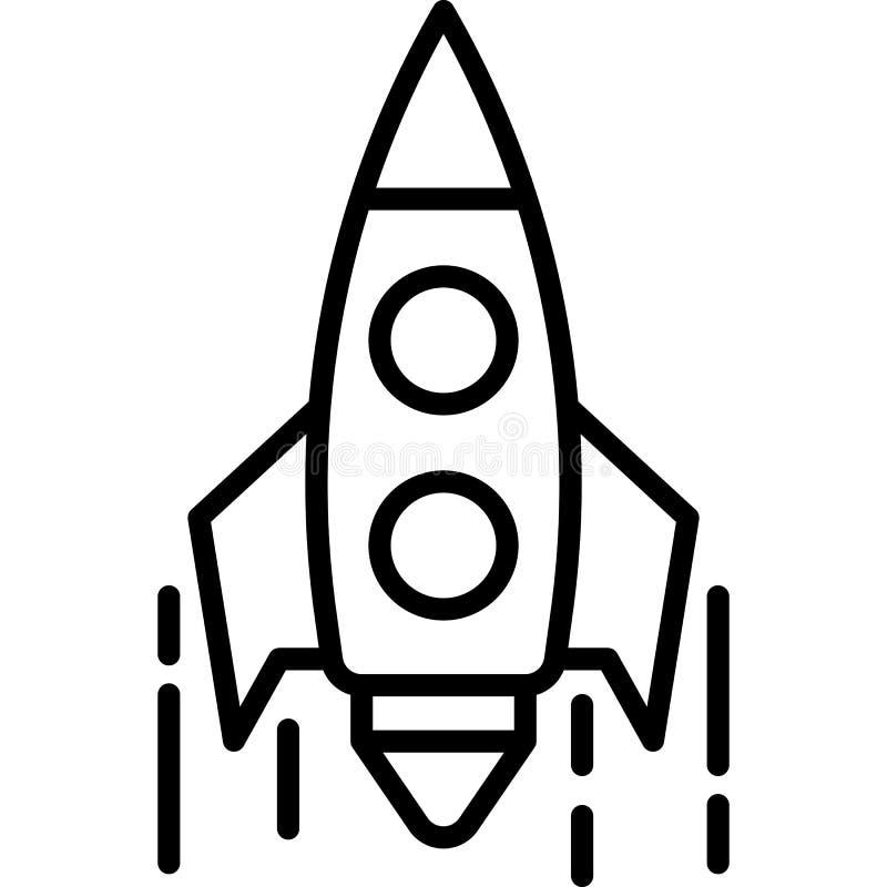 Rocket Icon Vector royaltyfri illustrationer