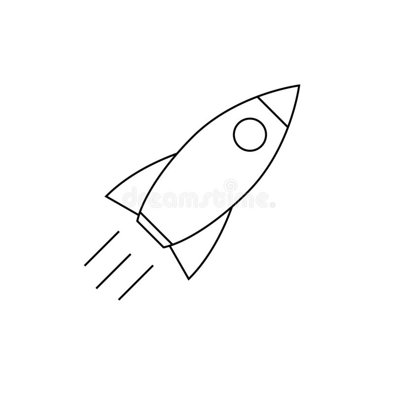 Rocket icon vector illustration isolated. Template for your design stock illustration