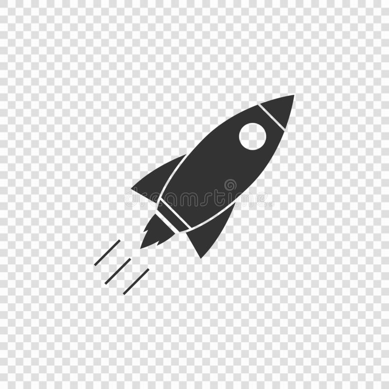 Rocket icon vector illustration isolated. Template for your design royalty free illustration