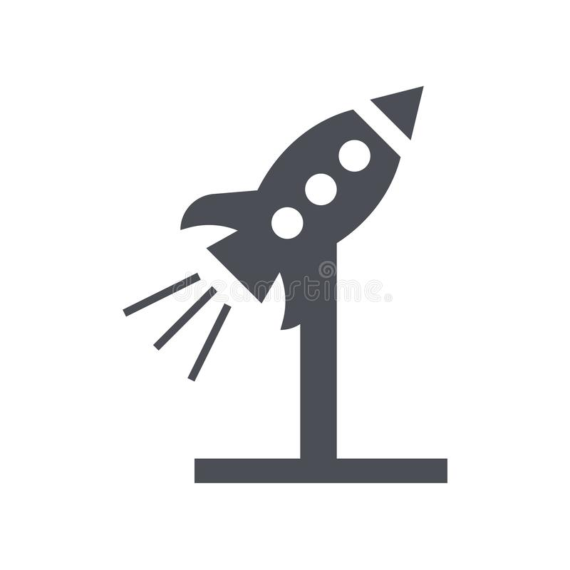 Rocket icon vector sign and symbol isolated on white background, Rocket logo concept. Rocket icon vector isolated on white background for your web and mobile app vector illustration